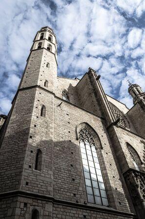 Santa Maria del Mar, Barcelona Stock Photo