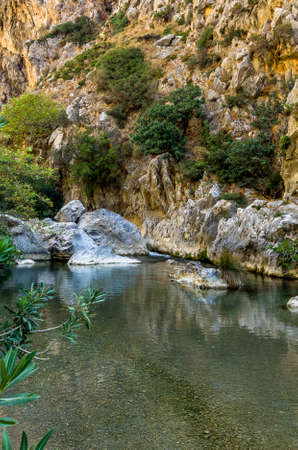 Creek in the valley of Preveli, Crete, Greece