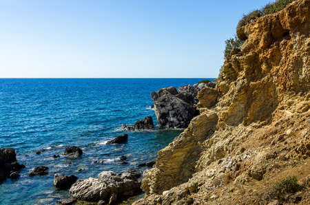 Coast near Preveli, Crete, Greece