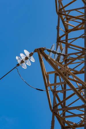 Detail of a electricity pylon 免版税图像