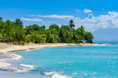 Wonderful golden beach on Grande-Terre, Guadeloupe, French Antilles, Caribbean