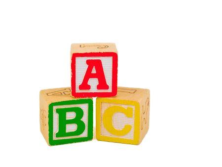 Alphabet Blocks stacked as ABC Stock Photo - 4245600