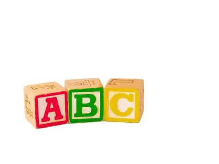 abc blocks: ABC Blocks Stacked Stock Photo