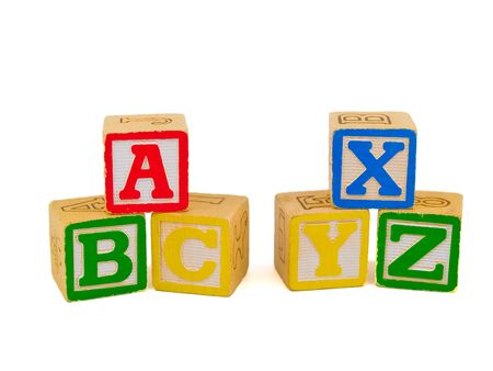 Alphabet Blocks stacked as ABC n XYZ Stock Photo - 4268610