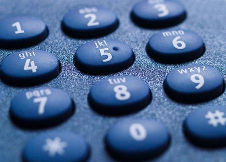 Closeup of a telephone keypad, black on black. Stock Photo - 4307206