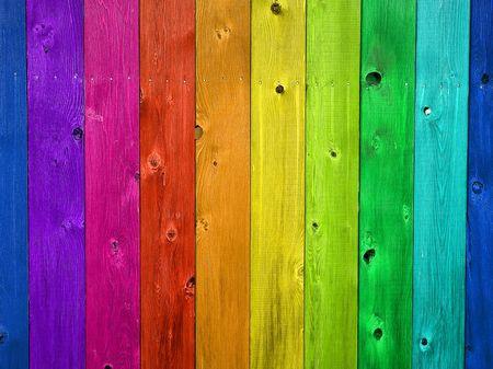Verticale houten hek raden voor achtergronden of texturen
