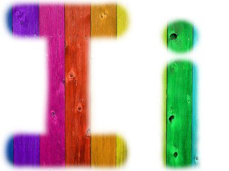 手紙木製虹の背景と私は 写真素材