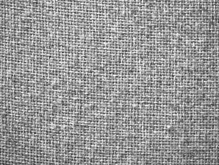 on gray: Gray burlap fabric closeup for texture and backgrounds