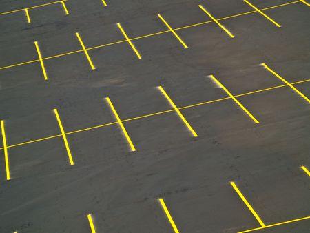Een lege parkeerplaats met een grunge look Stockfoto - 5615635