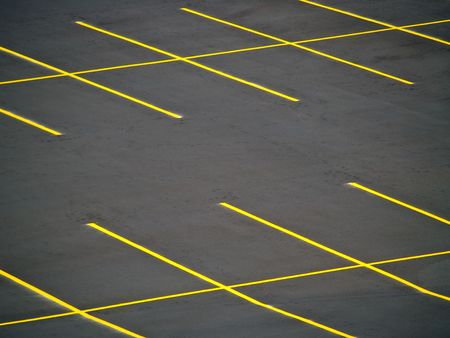 Een lege parkeerplaats met een grunge look