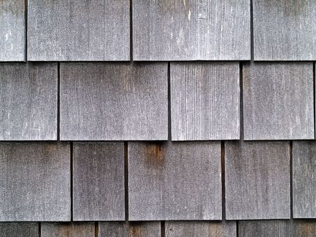 Wood Tile Wall on the Outside of a House Stock Photo - 6511210