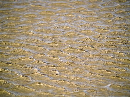 Ocean Ripples in Shallow Water on a Beach Stock Photo - 6580557