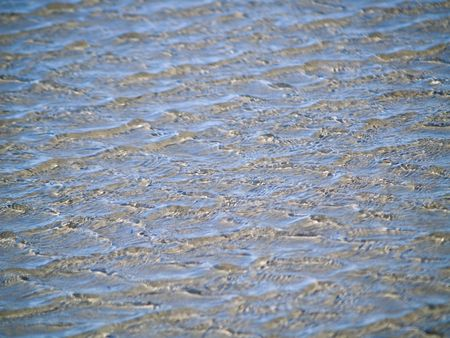 Ocean Ripples in Shallow Water on a Beach Stock Photo - 6580555