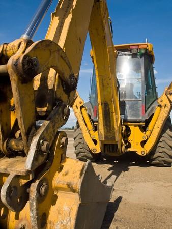 �quipement de construction lourde obligation stationn� au lieu de travail  Banque d'images