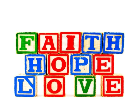ABC Blocks Spelling FAITH HOPE and LOVE