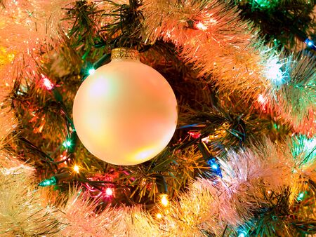 Christmas Tree Holiday Ornaments Hanging on a Tree Stock Photo - 7948397