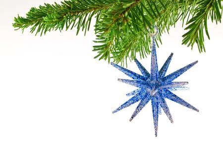 크리스마스 트리 휴일 장식 절연 상록 지점에서 매달려