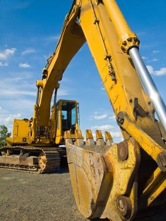 �quipement de construction lourde service stationn�es au chantier