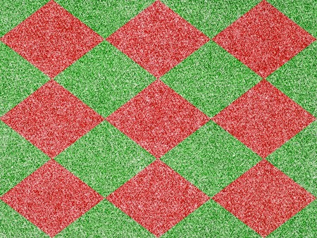 Denim Fabric in Christmas Colors Forming a Checkered Pattern photo