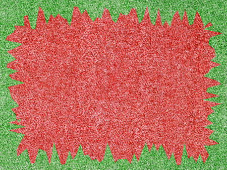 Denim Fabric in Christmas Colors Forming a Frame photo