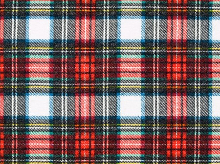 Full Frame Background of Red and Blue Plaid Fabric Stock Photo - 8275169