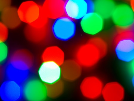 Christmas Lights Out of Focus Background Abstract