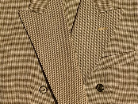 tweed: Full Frame Background of Fabric and Detail from Mens Suits