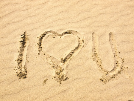I Love You Written in the Sand photo