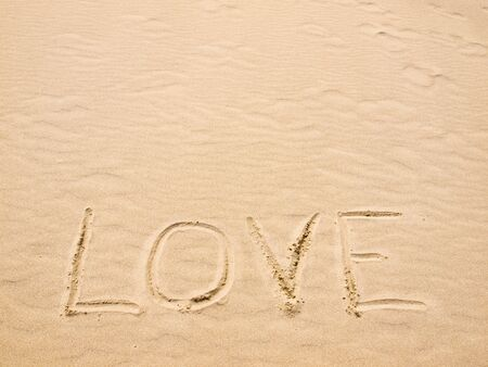 Love Written in the Sand on a Sunny Day photo