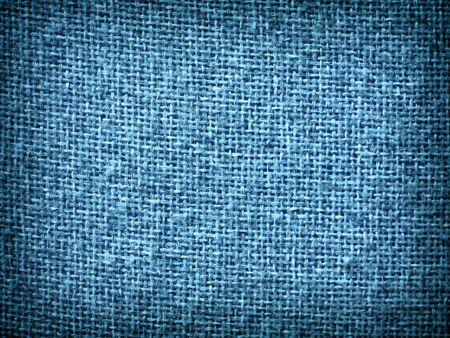 Achtergrond van de Textuur van de jute de Blauwe Grunge met Frame Copyspace