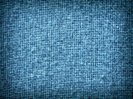Burlap Blue Grunge Texture Background with Framed Copyspace  photo