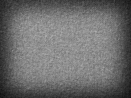 Burlap Gray Grunge Texture Background with Framed Copyspace