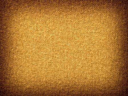 Burlap Tan Grunge Texture Background with Framed Copyspace  Foto de archivo