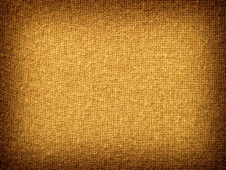 Burlap Tan Grunge Texture Background with Framed Copyspace  Standard-Bild