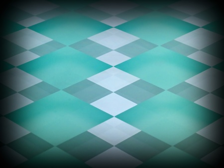 Aqua Glass Checkerboard with Clear and Frosted Squares with Mirrored Effect and Dark Edge photo