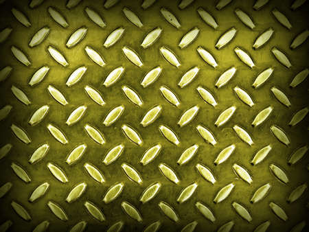 ironworks: Diamond Gold Toned Metal Background Texture with Dark Edge Stock Photo