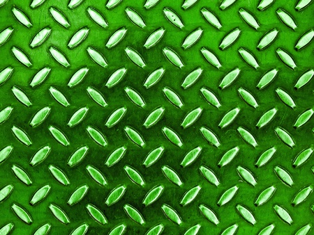 Diamond Green Toned Metal Background Texture Illuminated by Sunlight Stock Photo