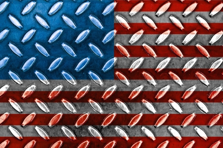 American Flag On a Diamond Metal Texture photo