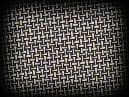 Weave Pattern Showing Repetition with a Dark Border Edge photo