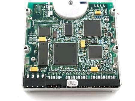 Computer Parts such as Circuit Boards, Memory Chips, CPU and Hard Disk photo