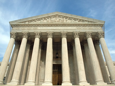 The United States Supreme Court in Washington DC 版權商用圖片
