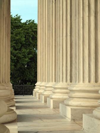 Kolommen bij het Hooggerechtshof van de Verenigde Staten in Washington DC