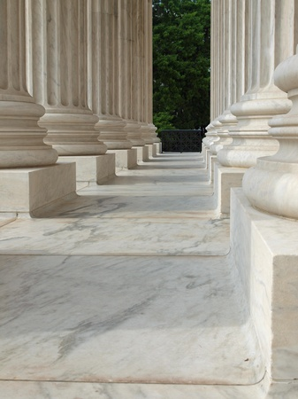 Columns at the United States Supreme Court in Washington DC photo