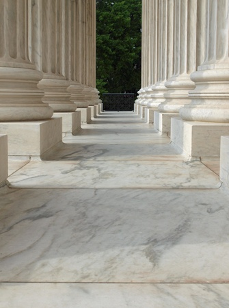 supreme: Columns at the United States Supreme Court in Washington DC