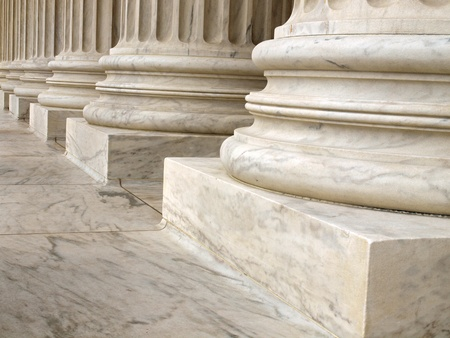 neo classical: Columns at the United States Supreme Court in Washington DC