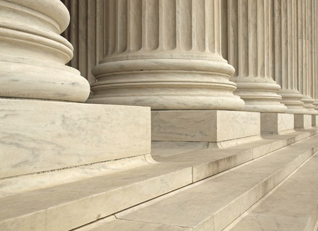 law: Columns at the United States Supreme Court in Washington DC