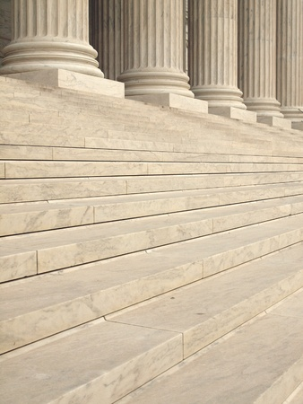 supreme: Steps and Columns at the Entrance of the United States Supreme Court in Washington DC