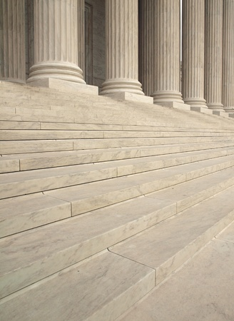 courts: Steps and Columns at the Entrance of the United States Supreme Court in Washington DC