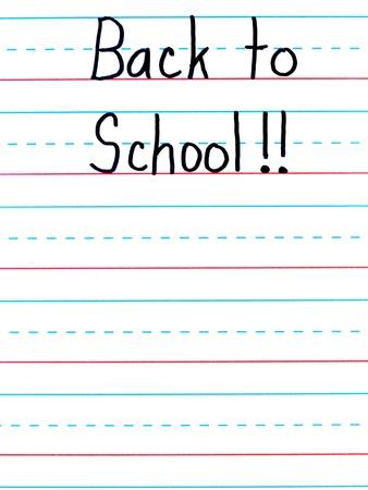 dry erase board: Back to School Written on a Lined Dry Erase Board