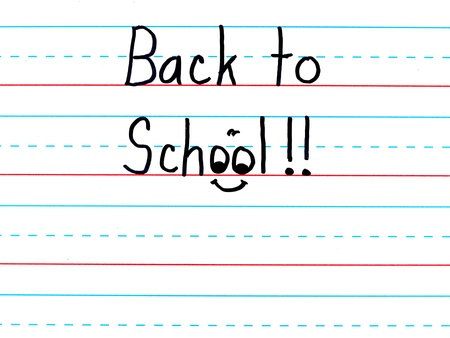 Back to School Written on a Lined Dry Erase Board photo